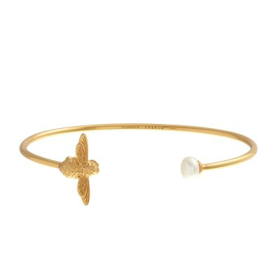 Biżuteria Olivia Burton Jewellery Pearl Bee Bangle OBJ16AMB29