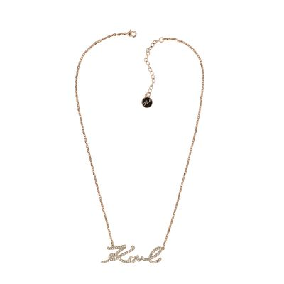 Karl Lagerfeld Dames Karl Necklace Verguld Rose Goud 5420496