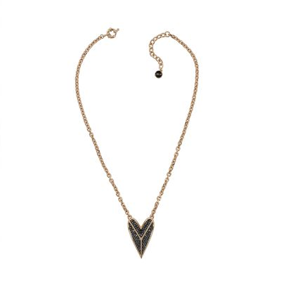 Biżuteria Karl Lagerfeld Jewellery Drama Pyramid Heart Necklace 5420594