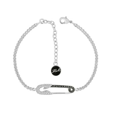 Karl Lagerfeld Dames Safety Pin Bracelet Verguld Zilver 5420601