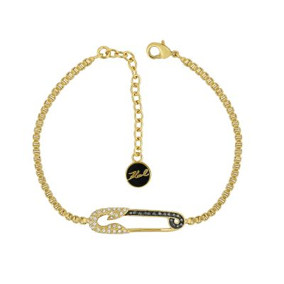 Karl Lagerfeld Dames Safety Pin Bracelet Verguld goud 5420602