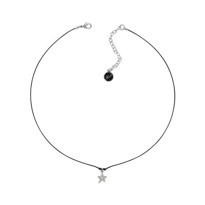 Karl Lagerfeld Dames Star Cord Necklace Verguld Zilver 5420644