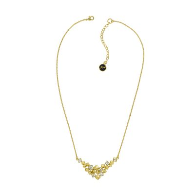 Karl Lagerfeld Dames Pyramid Cluster V Necklace Verguld goud 5420673