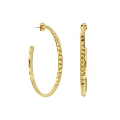 Karl Lagerfeld Large Pyramid Hoop Earrings 5420745