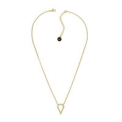 Karl Lagerfeld Dames Open Diamond Necklace Verguld goud 5420759