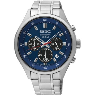 Mens Seiko Sports Chronograph Watch SKS585P1