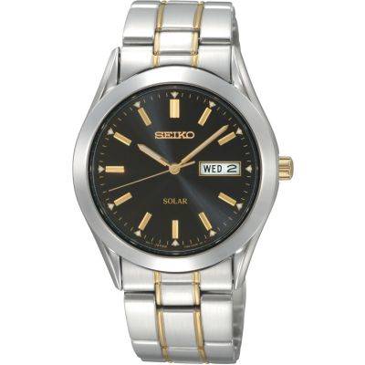 Mens Seiko Solar Solar Powered Watch SNE047P9