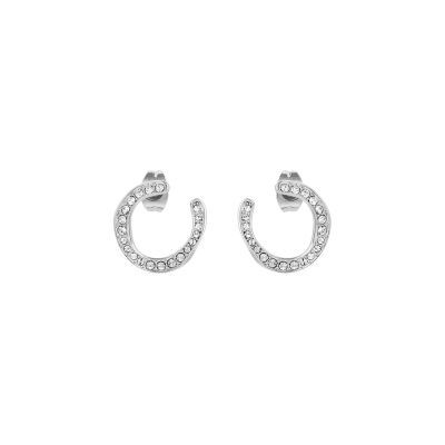 Adore Dames Organic Circle Hoop Earrings Verguld Zilver 5419377