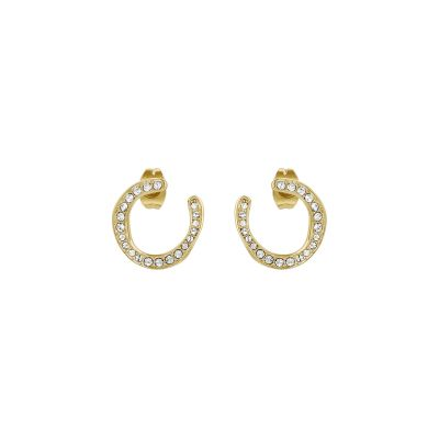 Adore Dames Organic Circle Hoop Earrings Verguld goud 5419378