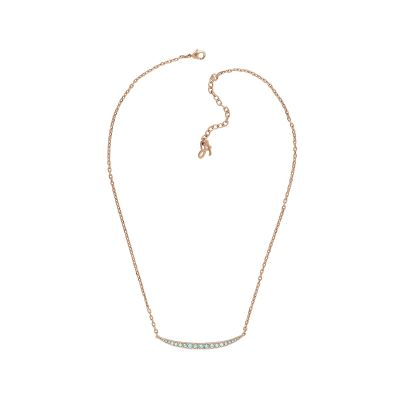 Adore Dames Curved Bar Necklace Verguld Rose Goud 5419391