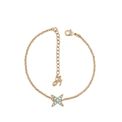 Adore Dames 4 Point Star Bracelet Verguld Rose Goud 5419393