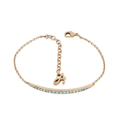 Adore Dames Curved Bar Bracelet Verguld Rose Goud 5419394