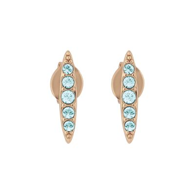 Adore Dames Pave Navette Stud Earrings Verguld Rose Goud 5419396