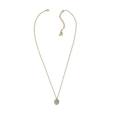 Adore Dames Pave Oval Necklace Verguld Rose Goud 5419403