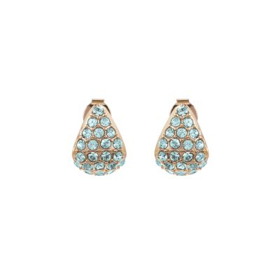Adore Dames Pave Triangle Earrings Verguld Rose Goud 5419412