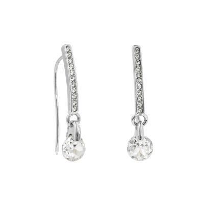 Adore Dames Linear Pave & CZ Earrings Verguld Zilver 5419423