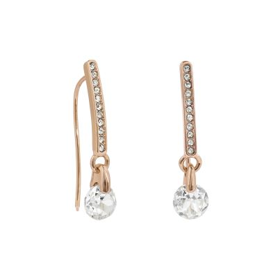 Adore Dames Linear Pave Earrings Verguld Rose Goud 5422548