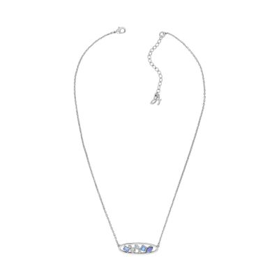 Adore Dames Mixed Crystal Oval Necklace Verguld Zilver 5419425