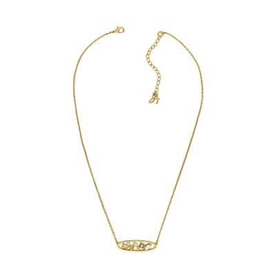 Adore Dames Mixed Crystal Oval Necklace Verguld goud 5419426
