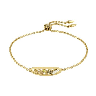 Adore Dames Mixed Cry Oval Slider Bracelet Verguld goud 5419429