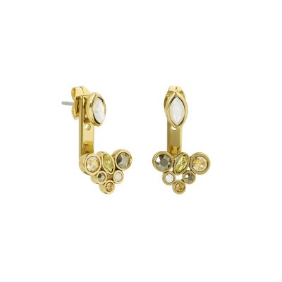 Adore Dames Mixed Crystal Jacket Earrings Verguld goud 5419432