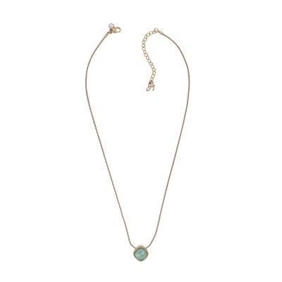 Adore Dames Cushion Stone Necklace Verguld Rose Goud 5419436