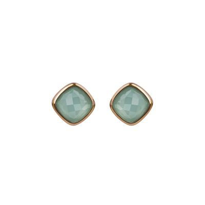 Adore Dames Cushion Stone Earrings Verguld Rose Goud 5419443