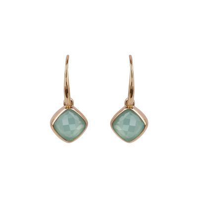 Adore Dames Cushion Stone Earrings Verguld Rose Goud 5419446