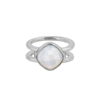 Adore Dames Cushion Stone Ring Size P/Q Verguld Zilver 5419449