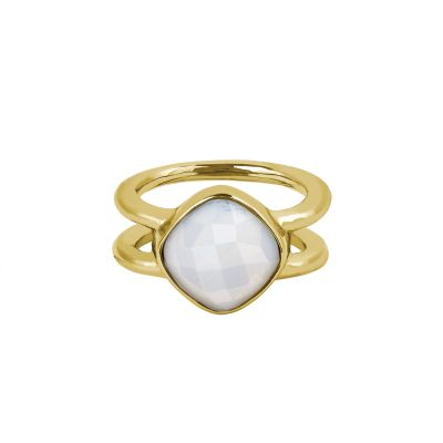 Adore Dames Cushion Stone Ring Size L Verguld goud 5419450