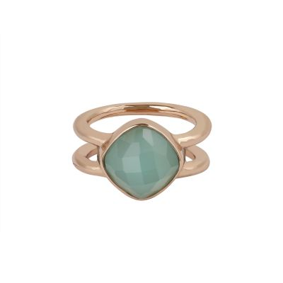 Adore Dames Cushion Stone Ring Size P/Q Verguld Rose Goud 5419455