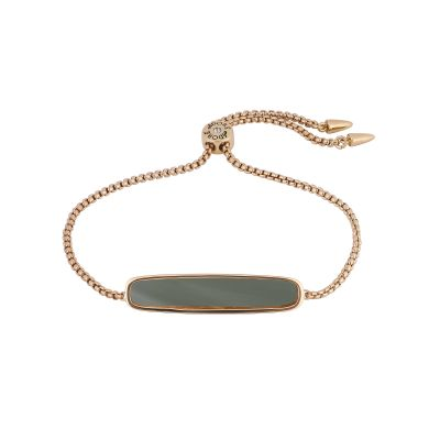 Adore Dames Resin Bar Slider Bracelet Verguld Rose Goud 5419468