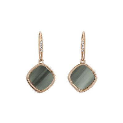 Adore Dames Resin Soft Square Earrings Verguld Rose Goud 5419475