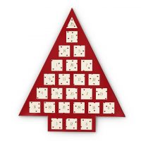 Ladies Johnny Loves Rosie Multi colour gold Red Heart Jewellery Advent Calendar JLRCAL1