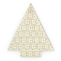 Ladies Johnny Loves Rosie Multi colour gold Gold Star Jewellery Advent Calendar JLRCAL2