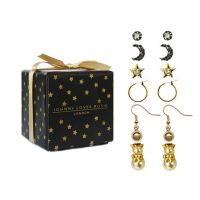 Ladies Johnny Loves Rosie Gold Plated Earring Gift Set JLRGIFT4