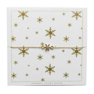 Damen Johnny Loves Rosie Snowflake Armband vergoldet JLRCARD1