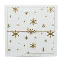 Ladies Johnny Loves Rosie Gold Plated Snowflake Bracelet JLRCARD1