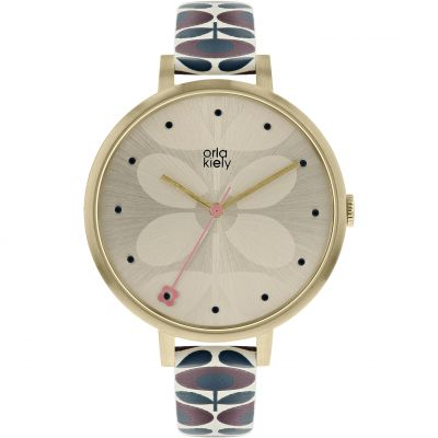 Ladies Orla Kiely Ivy Mesh Watch OK2190