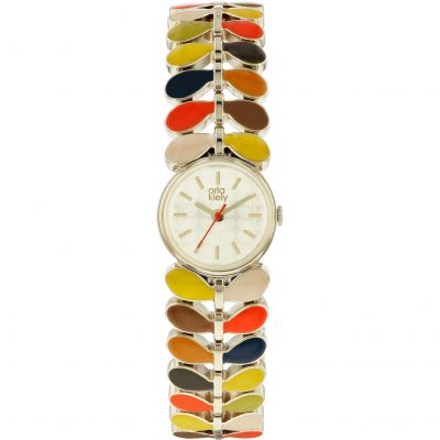 Ladies Orla Kiely Ivy Mesh Watch OK4060