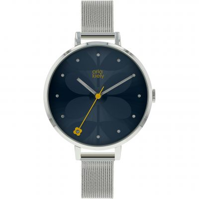 Ladies Orla Kiely Ivy Mesh Watch OK4061