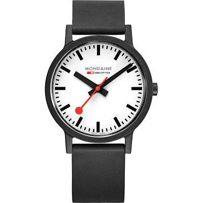 Mondaine Swiss Railways Essence 41mm Herrklocka Svart MS1.41110.RB