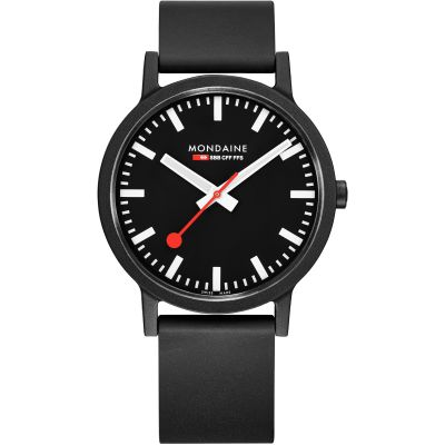 Mondaine Swiss Railways Essence 41mm Herrklocka Svart MS1.41120.RB