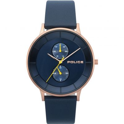 Police BERKELEY Herrenuhr in Blau 15402JSR/03