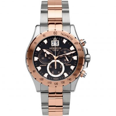 Mens Michel Herbelin Newport Trophy Chronograph Watch 36670/BTR14