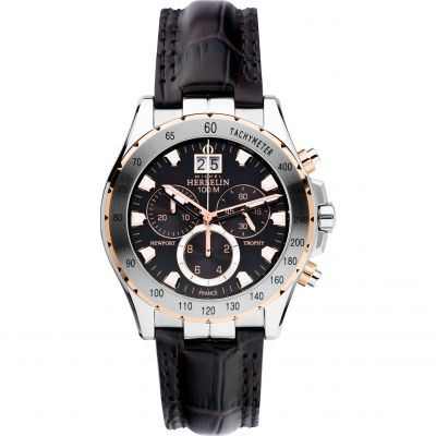 Mens Michel Herbelin Newport Trophy Chronograph Watch 36675/TR14MA