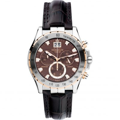 Mens Michel Herbelin Newport Trophy Chronograph Watch 36675/TR48MA