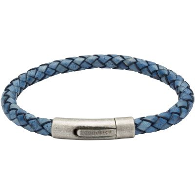 Mens Unique & Co Gunmetal PVD Bracelet B370AB/21CM