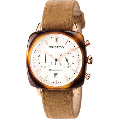 Unisex Briston Clubmaster Vintage Actate Chronograph Watch 17140.PRA.TV.2.LFCA