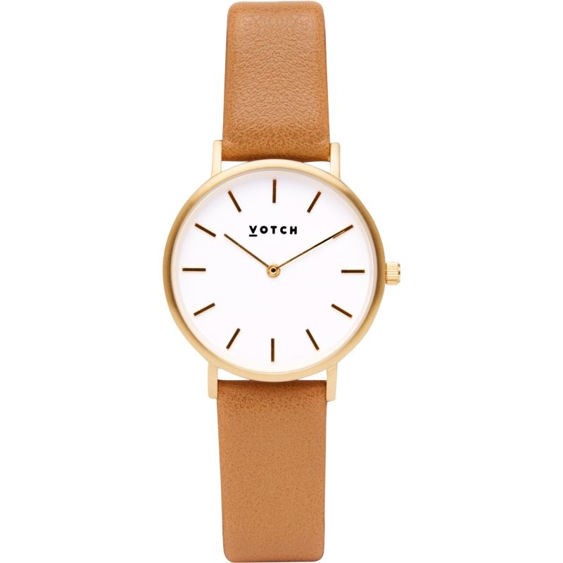 Ladies Votch 33mm Petite Tan and Gold Watch